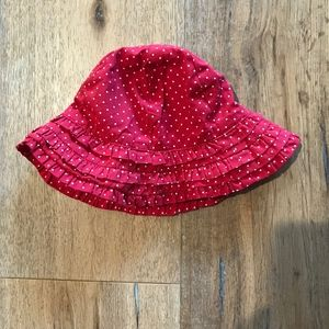 NWT Gymboree Ruffle Dot Infant Sun Hat